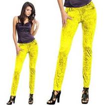 Folat - Legging - Jeans - Neon geel