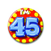 Paperdreams - Button - Klein - I'm 45