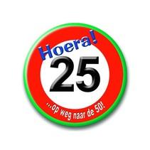 Paperdreams - Button - verkeersbord - Klein - 25 Jaar