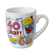 Paperdreams - Mok - Cartoon - 40 Jaar vrouw