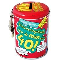 Paperdreams - Spaarpot - 40 Jaar - Man