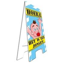 Paperdreams - Warning sign - Geboorte jongen