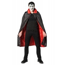 Partychimp - Cape - Dracula - Rood/Zwart - one size