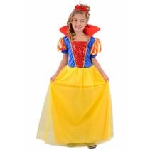 Partychimp - Kostuum - Sneeuwmeisje - mt.128
