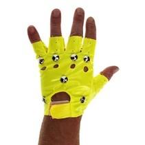 PartyXplosion - Handschoenen - Punk - Fluor geel