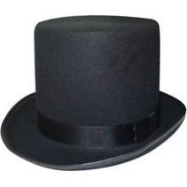 PartyXplosion - Hoed - Hoge hoed - Deluxe - Zwart