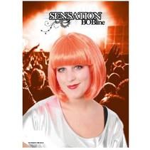 PartyXplosion - Pruik - Sensation - Bobline - Oranje