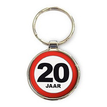 Miko - Sleutelhanger - 20 Jaar - Rond