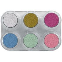 Grimas - Water make-up - Palet P - Parelmoer - 6x2,5ml
