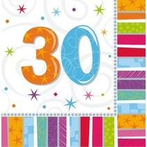Amscan - Servetten - Radiant birthday - 30 jaar