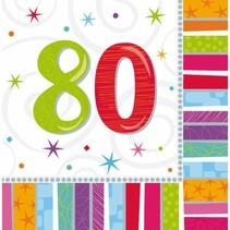 Amscan - Servetten - Radiant birthday - 80 jaar