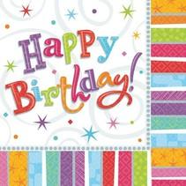 Amscan - Servetten - Radiant birthday - Happy birthday