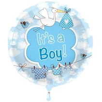 Folat - Folieballon - It's a boy - Zonder vulling - 43cm