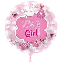 Folat - Folieballon - It's a girl - Zonder vulling - 43cm