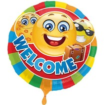 Folat - Folieballon - Smiley - Welcome - Zonder vulling - 45cm
