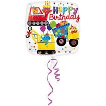 Anagram - Folieballon - Happy birthday - Auto's - Zonder vulling - 43cm