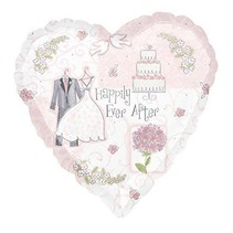 Anagram - Folieballon - Hart - Happily ever after - Zonder vulling - 43cm
