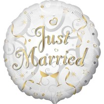 Anagram - Folieballon - Just married - Zonder vulling - 43cm