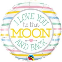 Qualatex - Folieballon - I love you to the moon and back - Zonder vulling - 43cm