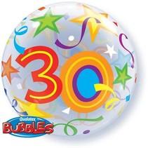 Qualatex - Folieballon - Bubble - 30 Jaar - Zonder vulling - 56cm