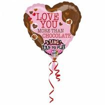 Anagram - Folieballon - Muziek - Love you more than chocolate - Zonder vulling - 74cm