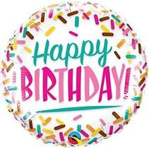 Folat - Folieballon - Happy birthday - Zonder vulling - 46cm
