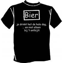 Paperdreams - T-shirt - Bier, je drinkt het de hele dag