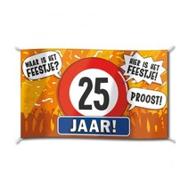 Paperdreams - Vlag - Hoera, 25 jaar - 150x90cm