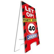 Paperdreams - Warning sign - 40 Jaar