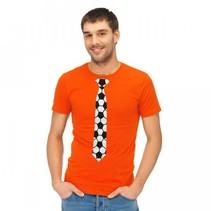 Folat - Shirt - Mannen - Voetbalstropdas - Oranje - XXL