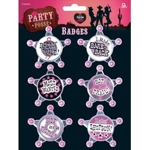 Amscan - Buttons - For girls that party! - 6st.