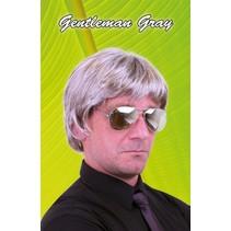 PartyXplosion - Pruik - Johan - Grijs