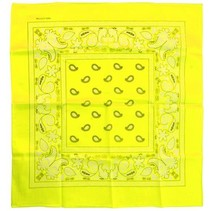 PartyXplosion - Bandana - Fluor geel - 35x35cm