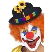 Smiffys - Hoed - Clown - Met bloemen