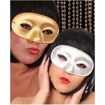 PartyXplosion - Oogmasker - Domino - Goud - Glitter