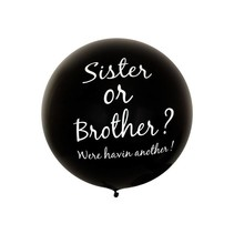 Partyxplosion - Gender reveal ballon - Sister or brother? - 90cm