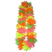 PartyXplosion - Hawaii slinger - Bloemenkrans - Gekarteld - Fluor