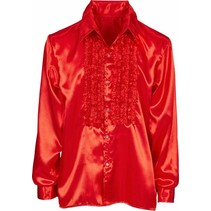 PartyXplosion - Ruches blouse - Rood - mt.56