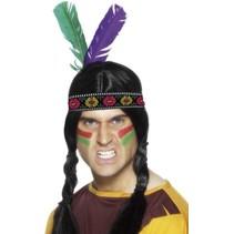 Smiffys - Indianenbandje met twee veren
