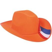 Folat - Hoed - Oranje - Met rwb streep