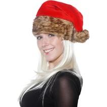 Folat - Kerstmuts - Bruin bont
