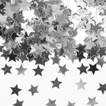 Folat - Confetti/tafeldecoratie - Sterren - Zilver