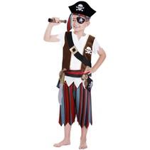 PartyXplosion - Kostuum - Piraat - Incl. accessoires - mt.98/116
