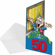 Folat - Uitnodigingskaarten - Abraham 50 jaar - 8st.
