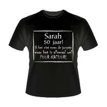 Paperdreams - T-shirt - 50 Jaar - Sarah - Tekst - XL
