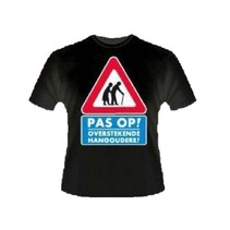 Paperdreams - T-shirt - Pas op, hangouderen - XL