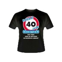 Paperdreams - T-shirt - 40 Jaar - XL