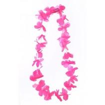 PartyXplosion - Bloemenkrans - Roze - LED lampjes - Hawaii