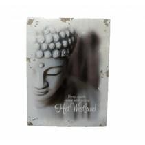 Miko - Westland - Houten decoratie - Keep calm and enjoy Het Westland