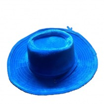 PartyXplosion - Hoed - Cowboy - Blauw - Velvet